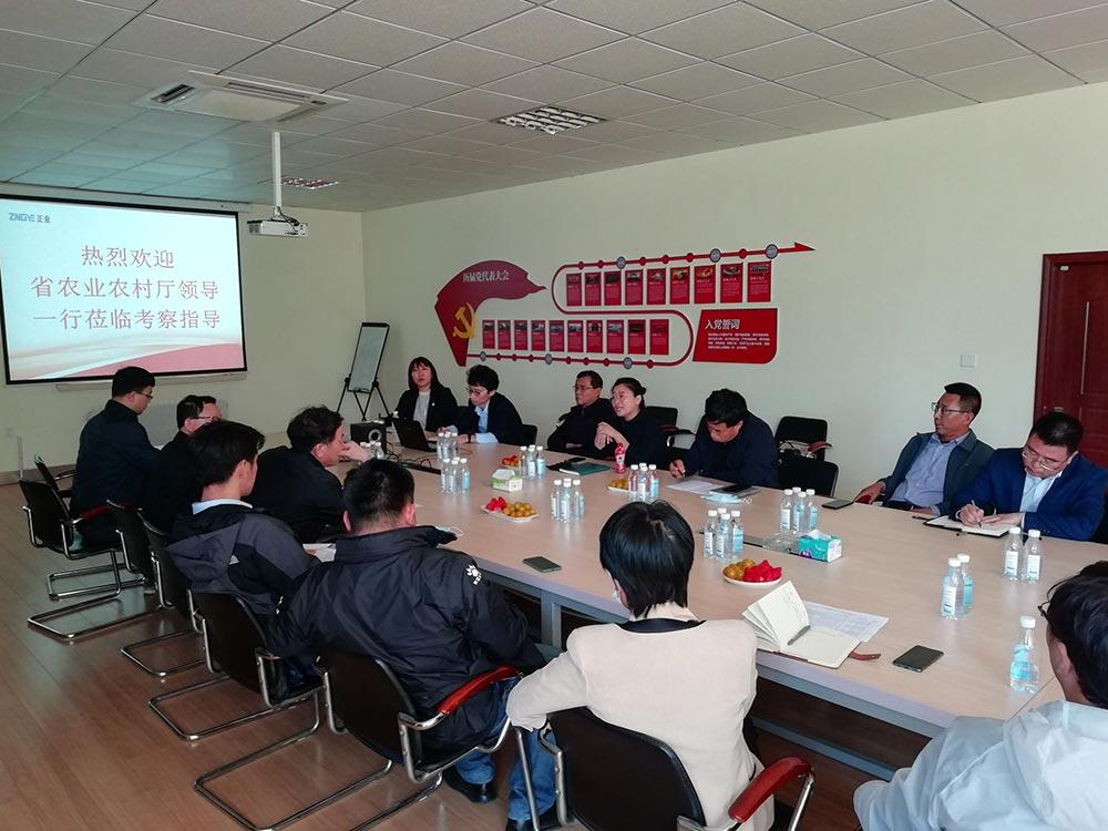 省农业农村厅领导莅临千赢平台官网公司考察指导(图2)